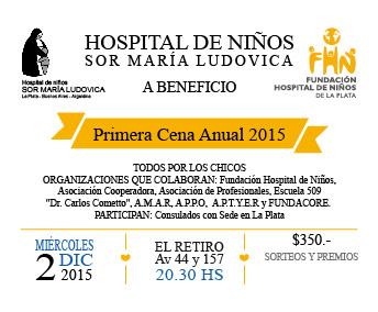 Primera Cena Anual a Beneficio Hospital de Niños de La Plata
