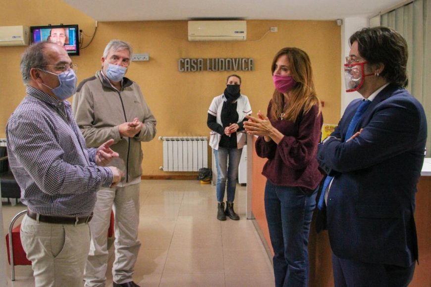 Autoridades nacionales visitaron la Casa Ludovica