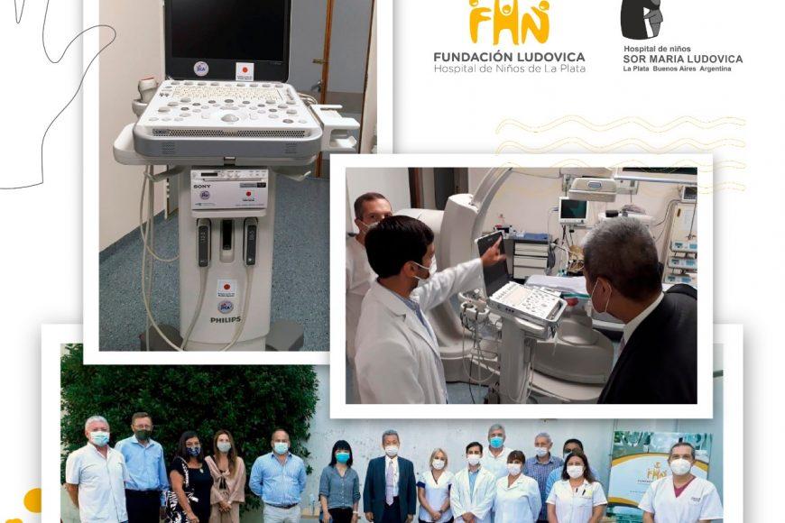 JICA donó un equipo de ultrasonido portátil para Cardiología