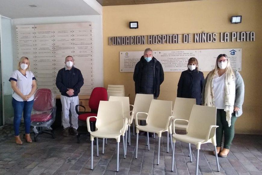 La Fundación Ludovica donó mobiliario al Hospital de Niños