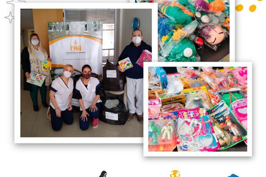 la Fundación entregó Juguetes al Hospital de Niños