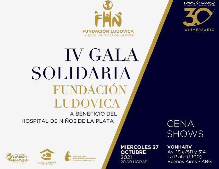 IV Gala Solidaria de la Fundación Ludovica a beneficio del Hospital de Niños de La Plata